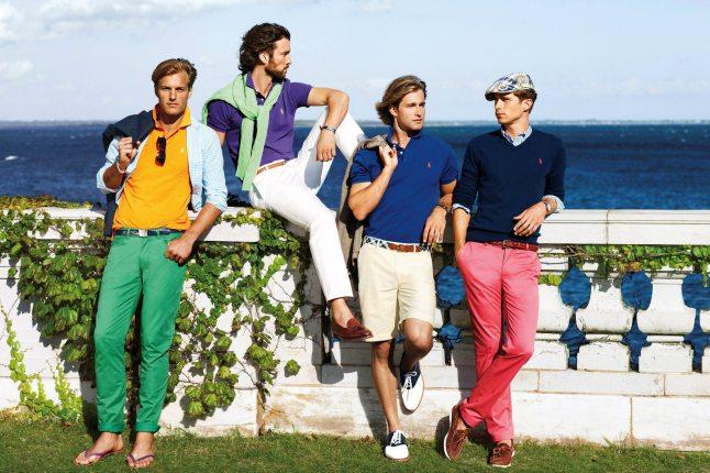 Ralph Lauren pantalones de colores moda masculina imagen que genera valor