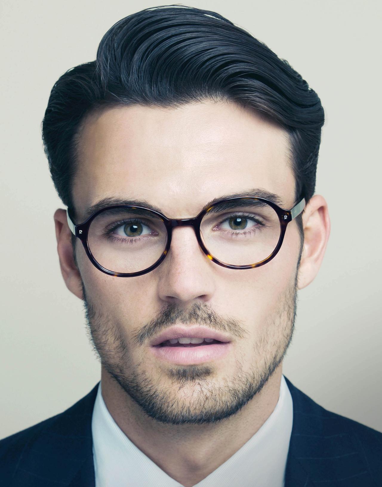 Moda masculina lentes cara hombre carametria caramorfoligia
