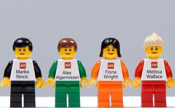 Trajetas de presentacion creativas LEGO IQGV