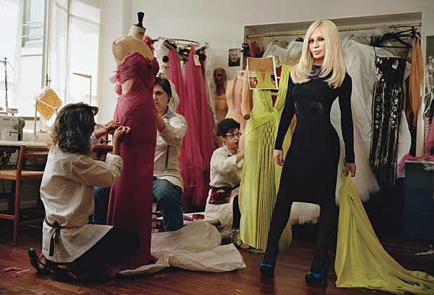 Donatella Versace In the Studio